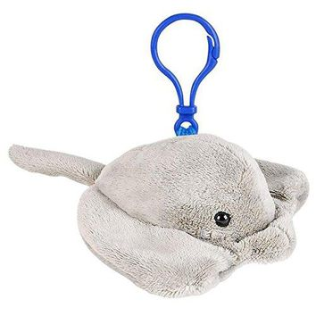 Wildlife Tree Sting Ray Plush 3.5 Inch Stuffed Animal Backpack Clip Toy Keychain Wildlife Hanger Party Favor Pack of 12