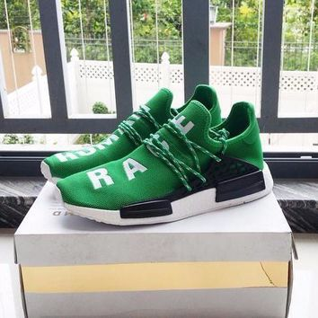 Beauty Ticks Pharrell Williams X Adidas Consortium Nmd Human Race Green Sport Runn