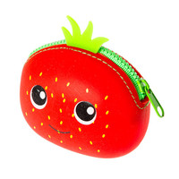 Strawberry Jelly Zippered Coin Purse