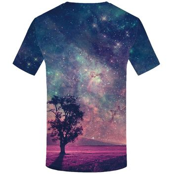 KYKU Brand Stars T-shirt Space T shirts Galaxy Clothes Nebula Tops  Clothing  T-shirts Women Printed Casual Fitness