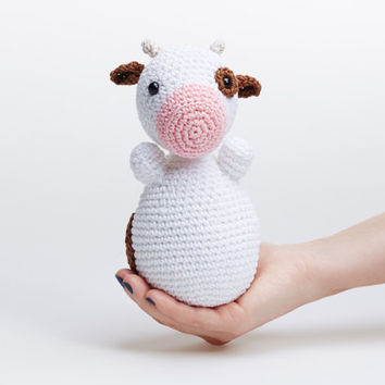 Cow Plush, Cow Stuffed Animal, Cow Soft Toy, Cow Amigurumi, Crochet Cow, Doll Cow, Farm Animal