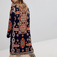 Rokoko Bohemian Tapestry Cardigan With Tassle Detail at asos.com