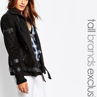 Noisy May Tall Faux Shearling Jacket