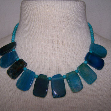 Blue Crackled Agate & Turquoise Summer Festival