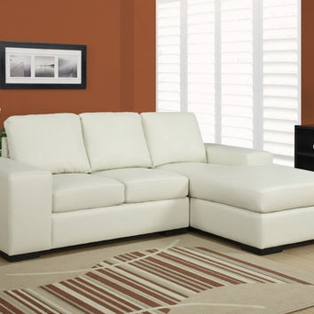 I 8200IV Ivory Bonded Leather / Match Sofa Lounger