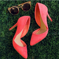 Electric Love Pumps - Coral
