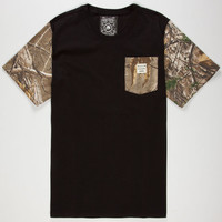 Metal Mulisha Realtree Keep It Real Mens Pocket Tee Black  In Sizes