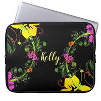 Hibiscus flower laptop sleeve