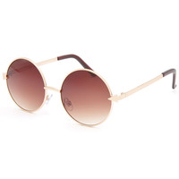 Full Tilt Round Arrow Sunglasses Gold One Size For Women 25747962101