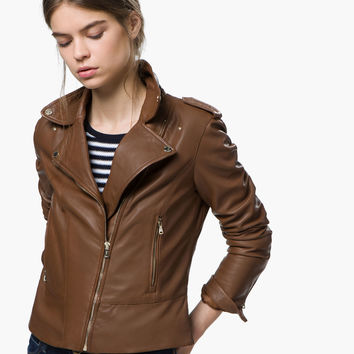CROSSOVER JACKET - Leather jackets - WOMEN - España (Excepto Canarias)/Spain (except the Canary Islands)