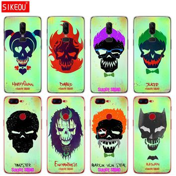 silicone cover phone case for Oneplus one plus 6 5T 5 3 A3000 A5000 Suicide Squad Joker Harley Quinn
