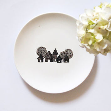 Garden Plate III  Small Size by ZuppaAtelier on Etsy