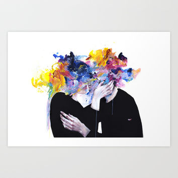 intimacy on display Art Print by Agnes-cecile