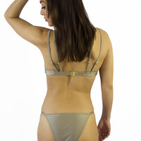 Somedays Lovin Unity Strappy Bikini Bottom Gold