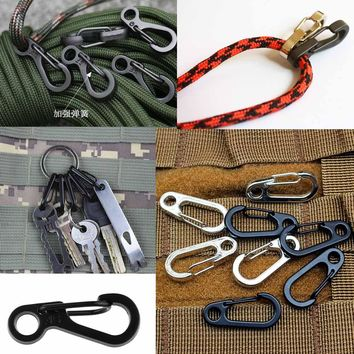3PCS Hanging Buckle Backpack Clasps Climbing Carabiner Spring Snap Clip Karabiner Hook SF Keychain Alloy Tactical Survival Gear