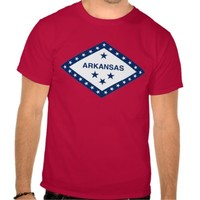 Arkansas flag, American state seal T-Shirt T Shirts from Zazzle.com