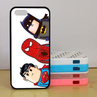 Batman, Cute Superhero, Spider-man,iPhone 5 case, iPhone 5C Case, iPhone 5S case, Phone case, iPhone 4 Case,Samsung Galaxy S3 S4 S5 case