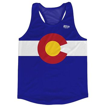 Colorado State Flag Running Tank Top Racerback Track and Cross Country Singlet Jersey