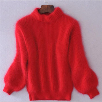 Fashion Loose Thickened Turtleneck Knitwear