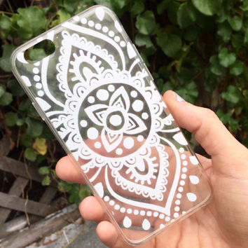 White Henna iPhone Case