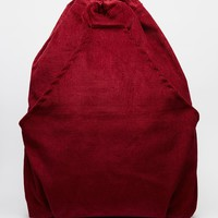 Milk It Corduroy Backpack in Oxblood at asos.com