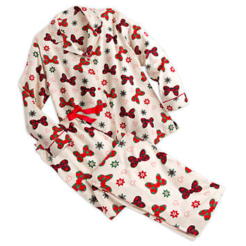 Minnie Mouse Bow Flannel Pajama Set for Women - Holiday | Disney Store