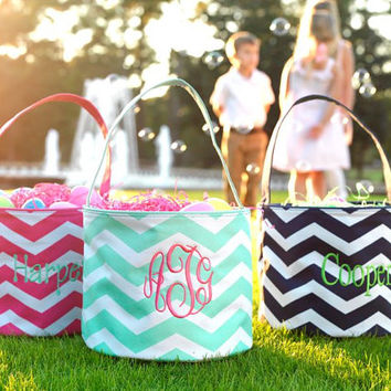 Personalized Chevron Easter Basket