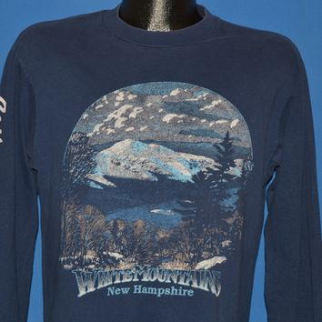 80s White Mountain New Hampshire Long Sleeve t-shirt Medium