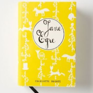Mr. Boddington's Penguin Classics, Jane Eyre by Anthropologie Yellow One Size Books