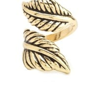 WRAPPPED ETCHED FEATHER RING