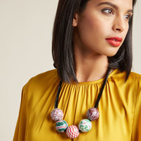 Lenora Dame Beaded Holiday Necklace