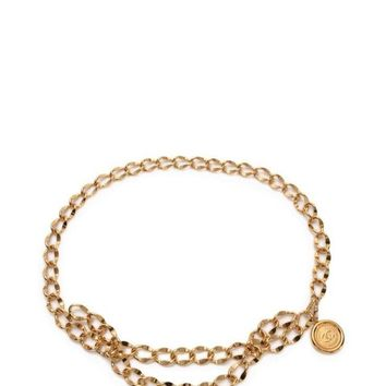 Chanel Belt Chain COCO Mark Gold Metal Women's