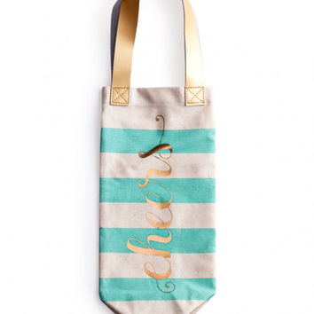 """Charm School"" Spirit Tote - ""Cheers"" or ""Poppin' Bottles"""