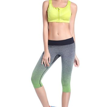 Women Capri Leggings For Sliming Training Running Workout Sport Clothing Sports Pants Lulu Yoga Slim Gym Fitness Clothes WA22