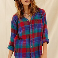 Totally Blown Destroyed Flannel Shirt - Urban Outfitters