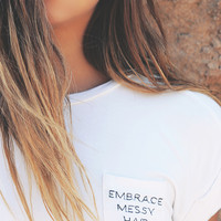 Bossy The Label - Embrace Messy Hair Crop - White