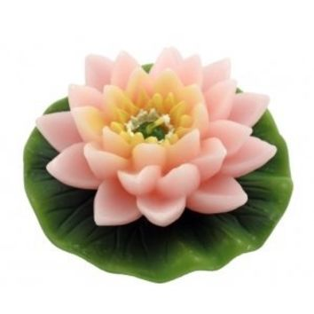 PINK LOTUS FLOWER CANDLE | ATL113-KK | Free Shipping on Orders +$45