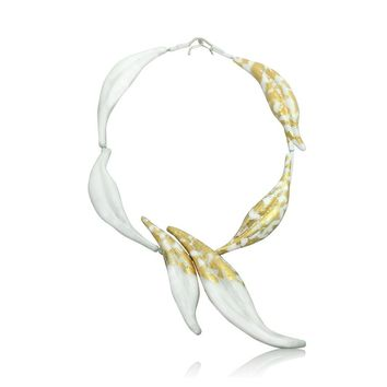 ALL NEW White Gold Petal Necklace