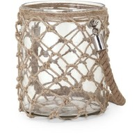 Luca Small Glass and Jute Lantern - Free Shipping!