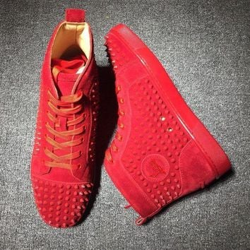 PEAPUX5 Cl Christian Louboutin Louis Spikes Style #1902 Sneakers Fashion Shoes