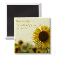 Sunflower Yellow save the date magnet from Zazzle.com