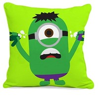 Minion Green Hulk Character Pillow Case (16 x 16 two side)