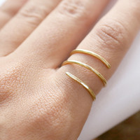 Simple Gold Wrap Around Ring