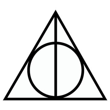 Harry Potter Deathly Hallows Vinyl Wall Sticker