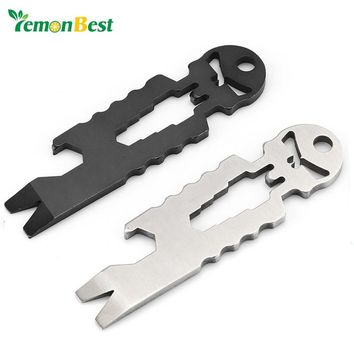 LemonBest Key Tool Multi-Tool Beer Bottle Opener /6 Specification Wrench /Crowbar/Key Chain/Nail Device /Screwdriver Can Gadgets