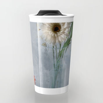 Wildflower Still LIFE Travel Mug by Theresa Campbell D'August Art