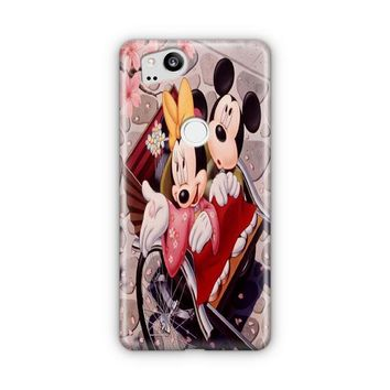 Romantic Mickey Mouse And Minnie Mouse Google Pixel 3 XL Case | Casefantasy