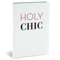 Holy Chic Large Leather Like Journal-160 Ruled Pages.