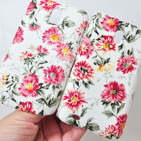 Tmobile Samsung Galaxy S2 red flower phone case Linen Cotton cellphone cover samsung T989 or Sprint D710 hard phone case