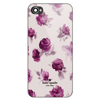 NEW Kate Spade Beauty Purple Rose Print On Hard CASE COVER iPhone 6/6s 6s+ 7 7+